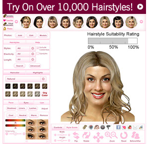 Virtual Hairstyler - View yourself with 1000s of hairstyles!